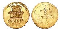 Mária Terézia 1740-1780 1/8 dukát 1778 Gyulafehérvár R!