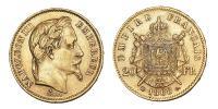 III.Napóleon 20 frank 1868