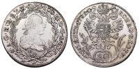 II.József 1780-1790 20 krajcár 1782