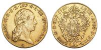 Ferenc 1792-1835 2 dukát 1799 R!