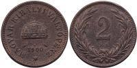 Ferenc József 2 fillér 1900 KB RR!