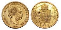 Ferenc József 1848-1916 4 Forint 1885 KB