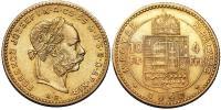 Ferenc József 1848-1916 4 Forint 1890 KB R!