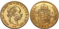 Ferenc József 1848-1916 4 Forint 1891 KB