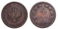 Ferenc József 4 krajcár 1861 E R!