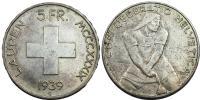 Svájc 5 frank 1939
