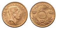 Svédország- V.Gusztáv 1907-1950 5 korona 1920