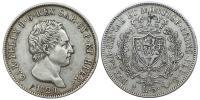 Sardinia- Carlo Felice 1821-1831 5 líra 1829
