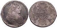 Anna 1730-1740 rubel 1735