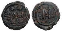 Bizánc- II.Justin és Szófia 565-578 Follis