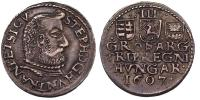 Bocskai István 1605-1606 háromgarasos 1607