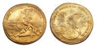 Buda visszafoglalás érem 2 dukát súlyban 1686 RRR!