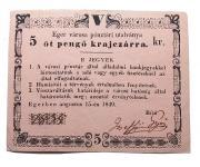 Eger 5 pengõ krajcár 1849