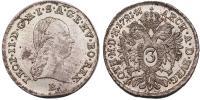 II.Lipót 1790-1792 3 krajcár 1791