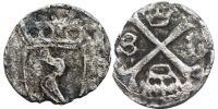 Hunyadi Mátyás 1458-1490 obolus RR!