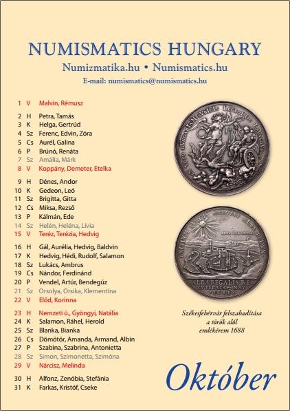Numizmatikai naptár 2017. évre