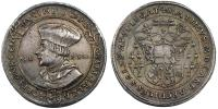 Matthaus Lang von Wellenburg 1519-1540 guldiner 1522 R!