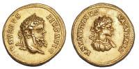 Septimius Severus és Caracalla aureus R!