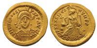 II.Theodosius solidus 5. század RRR!