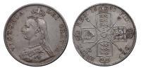 Viktória 1837-1901 dupla Florin 1890